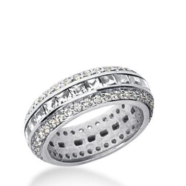 950 Platinum Diamond Eternity Wedding Bands, Channel Set 2.75 ct. DEB272PLT