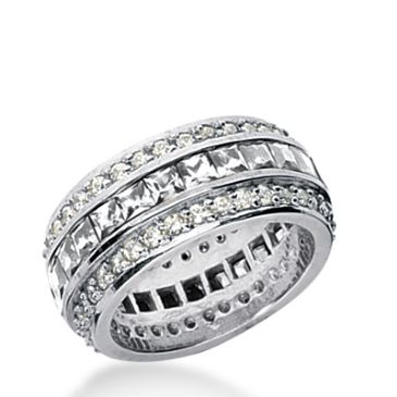 18k Gold Diamond Eternity Wedding Bands, Channel Set 4.00 ct. DEB27318K