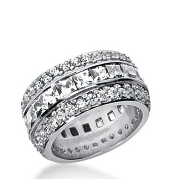 18k Gold Diamond Eternity Wedding Bands, Channel Set 6.00 ct. DEB27418K