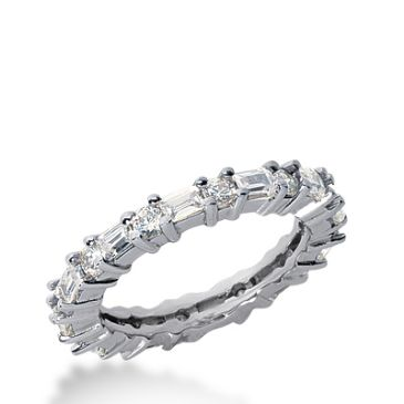 18k Gold Diamond Eternity Wedding Bands, Shared Prong Set 1.50 ct. DEB27518K