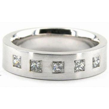 18K Gold 6mm Diamond Wedding Bands Rings 1963