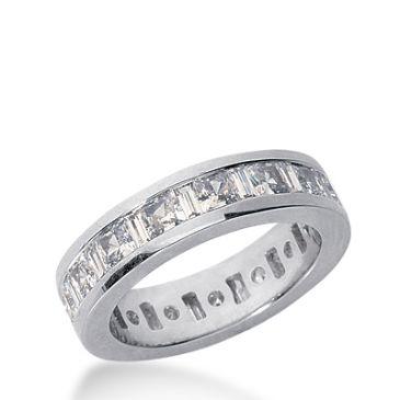 14k Gold Diamond Eternity Wedding Bands, Channel Set 3.00 ct. DEB27814K