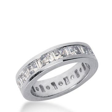 18k Gold Diamond Eternity Wedding Bands, Channel Set 3.00 ct. DEB27818K