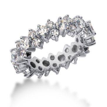 18k Gold Diamond Garland Eternity Wedding Bands, Prong Set 3.00 ct. DEB28918K