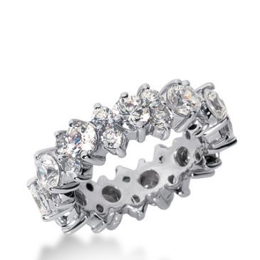 950 Platinum Diamond Garland Eternity Wedding Bands, Prong Set 4.00 ct. DEB291PLT