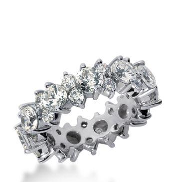 950 Platinum Diamond Garland Eternity Wedding Bands, Prong Set 4.50 ct. DEB292PLT