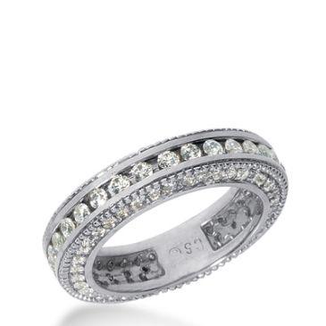 14k Gold Diamond Eternity Wedding Bands, Channel Set 1.50 ct. DEB29414K