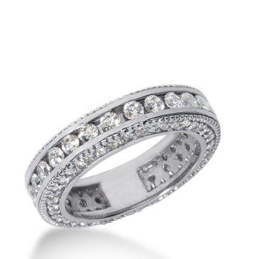 950 Platinum Diamond Eternity Wedding Bands, Channel Set 2.00 ct. DEB295PLT