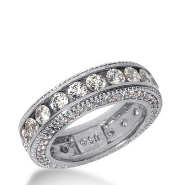 950 Platinum Diamond Eternity Wedding Bands, Channel Set 3.00 ct. DEB297PLT