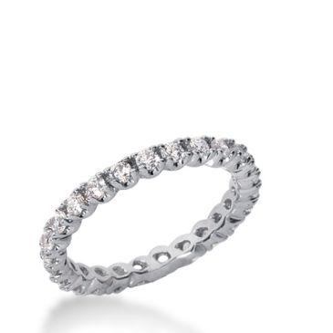 18k Gold Diamond Eternity Wedding Bands, Prong Set 0.75 ct. DEB29818K