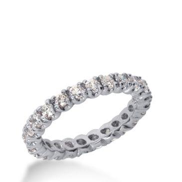 14k Gold Diamond Eternity Wedding Bands, Prong Set 1.25 ct. DEB29914K