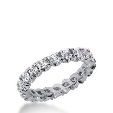 18k Gold Diamond Eternity Wedding Bands, Prong Set 1.50 ct. DEB30018K