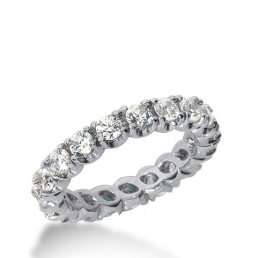 14k Gold Diamond Eternity Wedding Bands, Prong Set 2.00 ct. DEB30114K