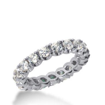950 Platinum Diamond Eternity Wedding Bands, Prong Set 2.00 ct. DEB301PLT