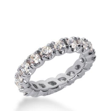 18k Gold Diamond Eternity Wedding Bands, Prong Set 3.00 ct. DEB30218K