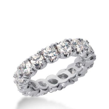 18k Gold Diamond Eternity Wedding Bands, Prong Set 3.50 ct. DEB30318K