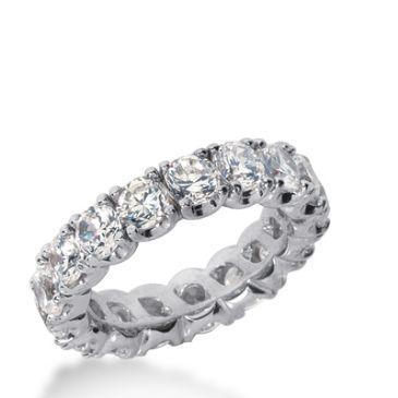 18k Gold Diamond Eternity Wedding Bands, Prong Set 4.00 ct. DEB30418K