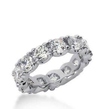 18k Gold Diamond Eternity Wedding Bands, Prong Set 5.00 ct. DEB30618K