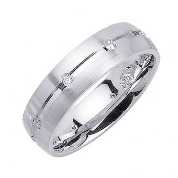 14K Gold Round Brilliant 6mm Comfort Fit Diamond Band 0.16ctw 1137