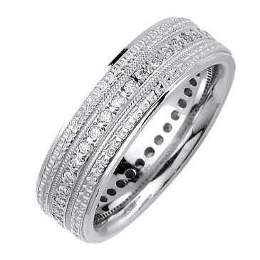 14K Gold Round Brilliant 7mm Comfort Fit Diamond Band 0.40ctw 1164