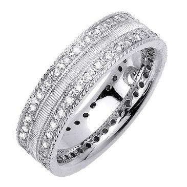 14K Gold Round Brilliant 7mm Comfort Fit Diamond Band 1170 (1.60ctw.)