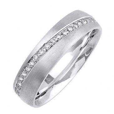 14K Gold 6mm Comfort Fit Contemporary Diamond Band 0.48ctw 1182