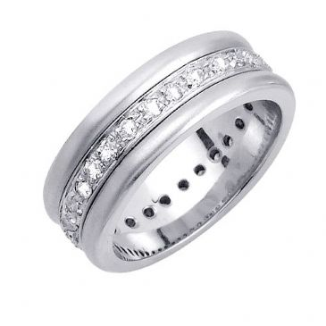 14k Gold Round Brilliant 8mm Comfort Fit Diamond Band 1200 (0.70ctw.)