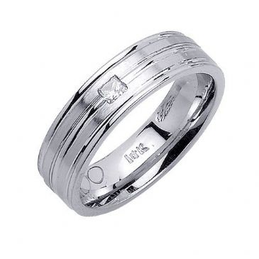 18K Gold 6mm Comfort Fit Contemporary Diamond Band 0.10ctw 1227