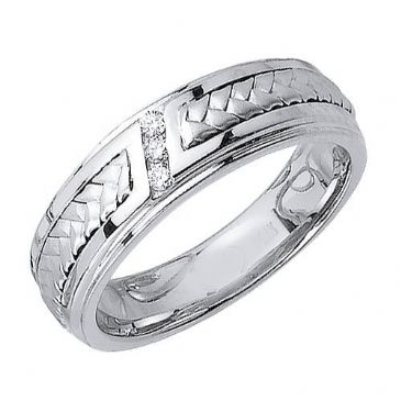 18K Gold 6mm  Comfort Fit Contemporary Diamond Band 0.09ctw 1115