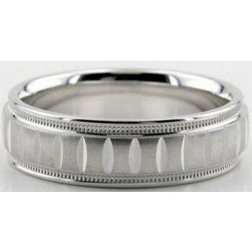 14K Gold 6.5mm Diamond Cut Wedding Band 607