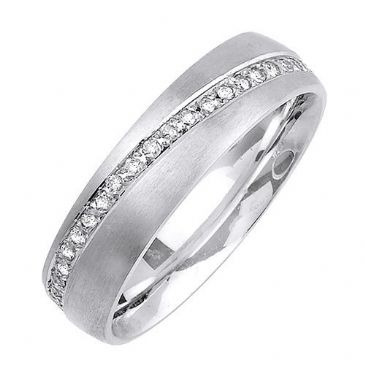 18k Gold 6mm Comfort Fit Contemporary Diamond Band 0.48ctw 1182