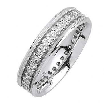 18K Gold Round Brilliant 6mm Comfort Fit Diamond Band 1198 (1.05ctw.)