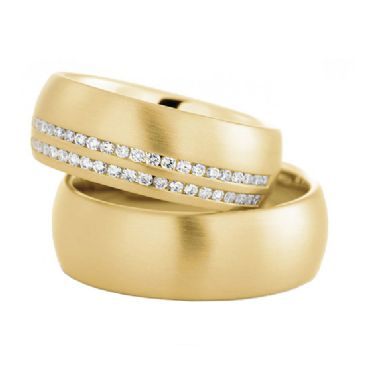 18k Gold His & Hers 0.60ctw Diamond Wedding Band Set 204
