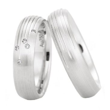 950 Platinum His & Hers 0.25ctw Diamond Wedding Band Set 205