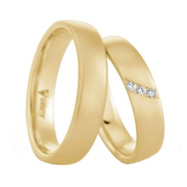 18k Gold His & Hers 0.075ctw Diamond Wedding Band Set 208