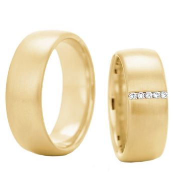 18k Gold His & Hers 0.175ctw Diamond Wedding Band Set 210