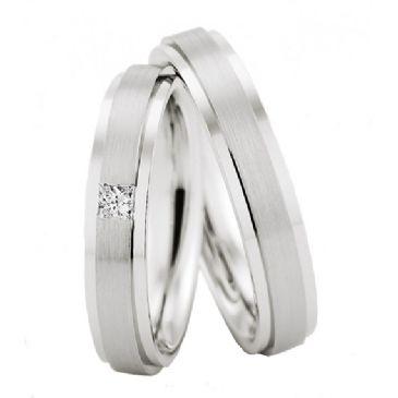 950 Platinum His & Hers 0.10ctw Diamond Wedding Band Set 220