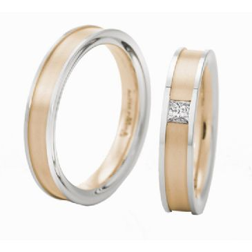 18k Gold His & Hers 0.10ctw Diamond Wedding Band Set 222