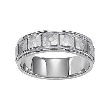 14k Gold 7mm Diamond Cut Wedding Band