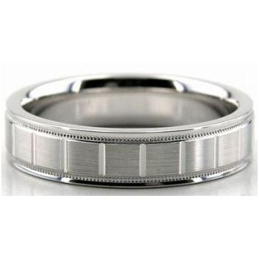 14K Gold 4mm Diamond Cut Wedding Band 608-4