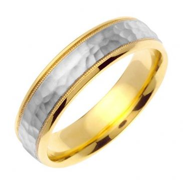 18k Gold 6mm Handmade Wedding Ring 180 Almani