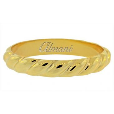 14k Yellow Gold 4mm Antique Wedding Band Comfort Fit AWB100914KY