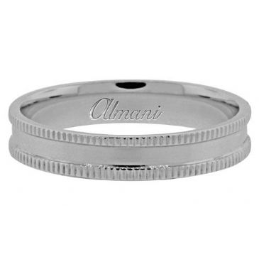950 Platinum 4mm Antique Wedding Band Comfort Fit AWB1012PLT