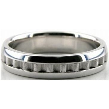 950 Platinum 5mm Handmade Wedding Band Latter Design 032