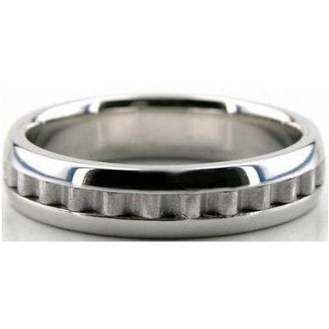 950 Platinum 5mm Handmade Wedding Band Latter Design 032