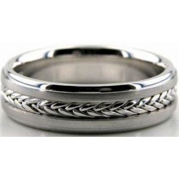 950 Platinum 6mm Handmade Wedding Band Braid Design 007