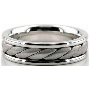 950 Platinum 6mm Handmade Wedding Band Braid Design 018