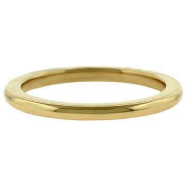 18k Yellow Gold 2mm Comfort Fit Dome Wedding Band Super Heavy Weight