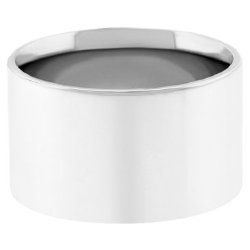 14k White Gold 10mm Comfort Fit Flat Wedding Band Heavy Weight