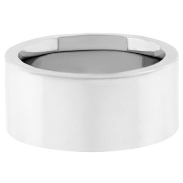 Platinum 950 10mm Flat Wedding Band Super Heavy Weight